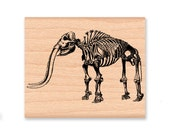 MAMMOTH SKELETON-Woolly Mammoth-Prehistoric-ice age-elephant-Wood Mounted Rubber Stamp (mcrs 39-16)