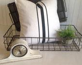 Grainsack Canvas Pillow  with Stripes     Nautical / Beach / Farmhouse / Lakehouse / Coastal   Your Own Color