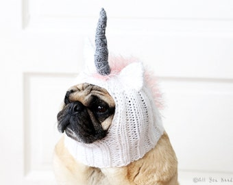 Dog Hat - Unicorn Hat - Pet Clothing - Dog Clothing - Pug Hat