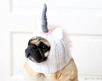 Dog Hat - Unicorn Hat - Pet Clothing - Dog Clothing - Pug Hat