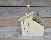 Big Tealight holder and planter House - MADE TO ORDER - Stoneware