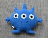 Charlie the Blue Three-Eyed Plush Monster