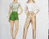 1401  KWIK SEW Pattern       Misses  Shorts  Pants Sizes   6  8  10  12