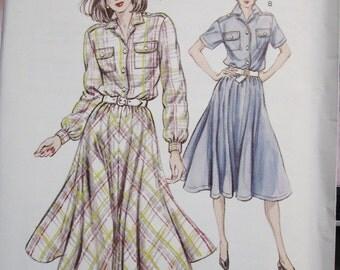 1347  KWIK SEW Pattern       Misses  Shirt Dress     Sizes   6  8  10  12