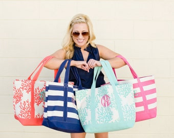 Canvas tote Monogrammed
