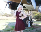 40's Pinafore Skirt in Burgundy