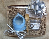 Salt Pig Gift Set with Cornish Sea Salt & Pepper and Bamboo Spoon