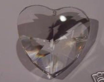 5- Asfour 28mm Heart Clear Crystal Prism Pendant(S-5)