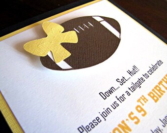 Football Party Invitations, Tailgate Party Invitations, Girl Football Invitation, Tailgate Baby Shower, Football Baby Shower, Boy, Set of 12