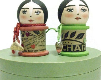 Hand Painted Spool Doll