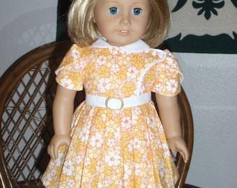 1930s School Frock Feedsack Dress for American Girl Kit Ruthie 18 inch dolls