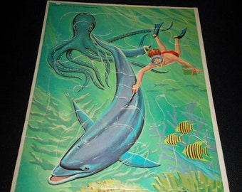1966 Flipper TV Series Frame Tray Puzzle #2
