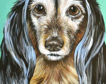 Custom Painted Portrait  9x12 canvas