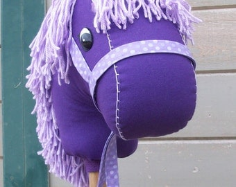"MADE TO ORDER Classic Collection ""Punky Purple"" Stick Horse or Pony Ready to Ride"