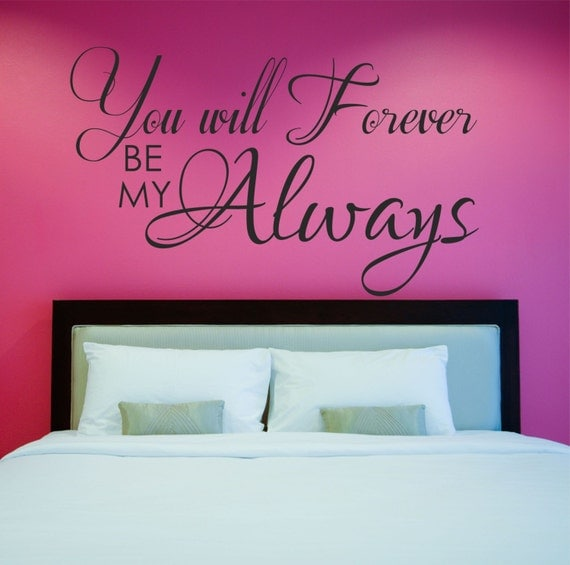 Love Quote Decal Master Bedroom Wall Decal Vinyl Wall Quote