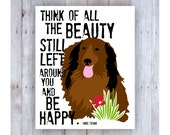 Long Haired Dachshund Dog Art, Anne Frank Quote, Dog Art, Dog Print, Life Quote, Doxie, Dog Lover Gift, Office Art, Beauty Quote, Dog Print