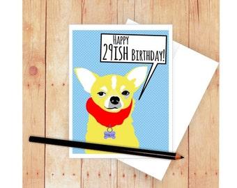 Chihuahua Birthday Card, Dog Birthday Card, Dog Greeting Card, Chihuahua Art, Chihuahua Artwork, Happy Birthday Card, Dog Art