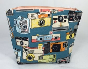 POUCH- Vintage Cameras **handmade**