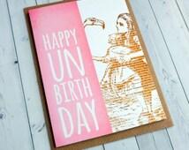 Alice in Wonderland Pink Bookmark Un-birthday Card