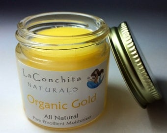 Organic Gold Intensive Moisturizer for Dry Skin - All Natural, Unscented with Argan Oil, Antioxidants, Nutrient Rich Botanicals 1/4oz Sample