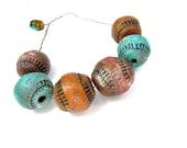 MAMMA Beads - Painterly Round Bead - Ceramic Clay Bead Strand No. 26