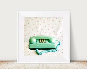 Call Me Fine Art Print--Vintage Telephone Photograph Girly Charming Whimsical Home Decor Wholesale