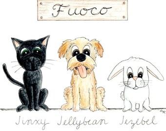 Custom Pet Caricature