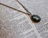 Aquarius cameo necklace