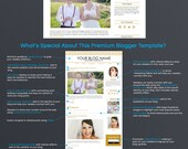Premium Blog Design - Premade Blogger Template - Gold Three