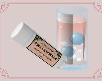 PINK LEMONADE Lip Balm made with Shea Butter - .15oz Oval Tube