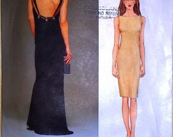 vogue american designer pattern 2501 ~ badgley mischka dress ~ (2000) ~ UNCUT