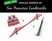 San Francisco Landmarks, SAVE 24% with this value bundle    San Francisco MoMA Building    Golden Gate Bridge    San Francisco Pyramid