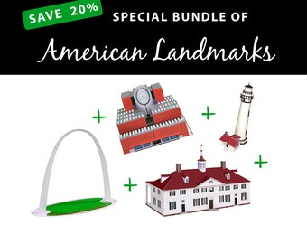 American Landmarks, SAVE 20% with this value bundle || Gateway Arch || San Francisco MoMA || Pigeon Point Lighthouse || Mount Vernon