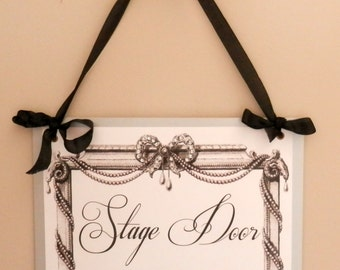 Bejeweled Signage. Custom Printed Vintage Style Hanging Signs for Your Party