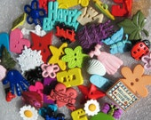 Lot of Novelty Buttons 50+ assorted embellishments, Crafting, Scrapbooking Button Jewelry Lot 104