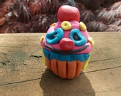 Mr. Cupcakes - a Whimsical Polymer Clay Art Doll or Cake Topper / Cupcake Topper