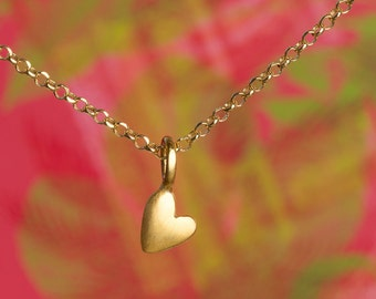 Heart Pendant Extra Tiny Heart Necklace Heart Charm Necklace sterling silver Heart Jewelry  bridesmaid gift christmas gift for her for girl