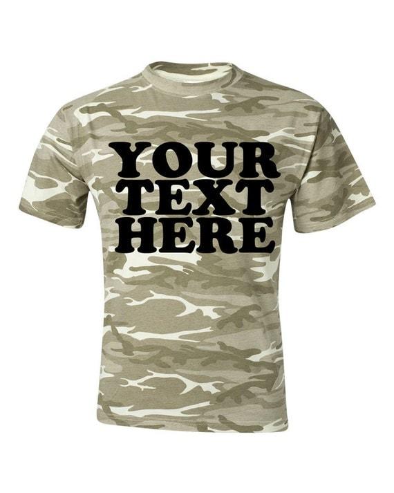 Custom anvil desert sand camouflage t shirt camo personalized for Custom t shirts camouflage