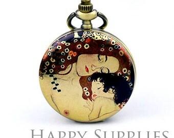 30% off - 1pcs (PW01) Handmade Antique Bronze Brass Photo Pocket Watch Pendant / Charm