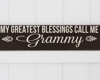 My Greatest Blessings Call Me Grammy // Hand-Painted // Wall Art // Customizeable // Personalize // Grandparent Sign // Aunt Sign // Mother