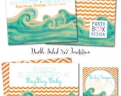 Surfer Baby Boy Invites