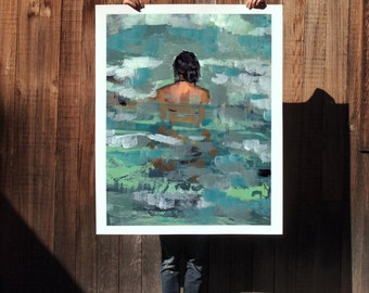 Undertow .  extra large wall art . giclee print