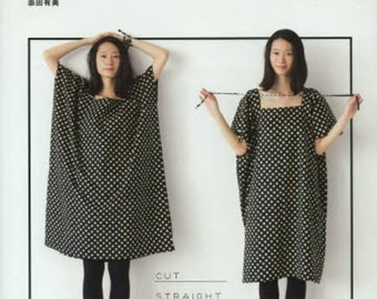 Easy Straight Sewing, Yumi Soeda, Japanese Craft Book for Women Clothing - Sewing Tutorial - Comfortable Skirt, Blouse, Pants, Dress - B1457