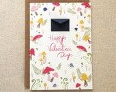 Mushroom Forest Valentine's Day Card - Tiny Envelopes Card