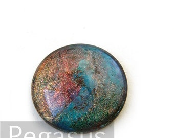 Cosmic Rainbow Opalescent round Glass opal Cabochon (3 Piece,6 size options) space gem for wedding,cosplay,elven costume,steampunk jewelry