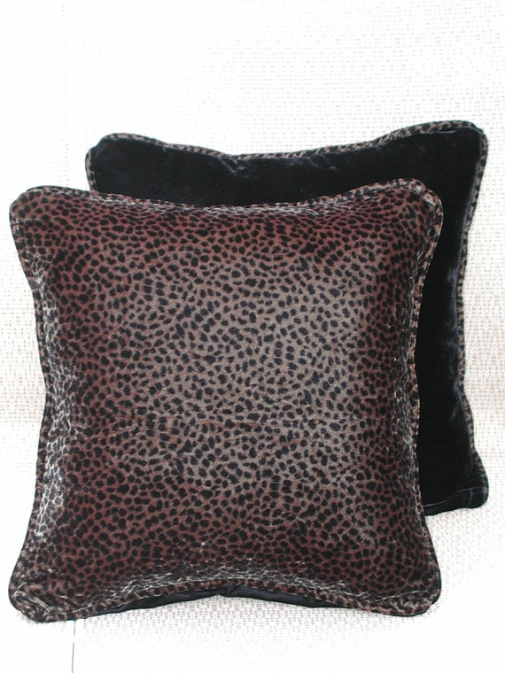 Velvet Animal Print Pillows : Velvet Pillows Set Animal Print Pillow Black Velvet Pillows