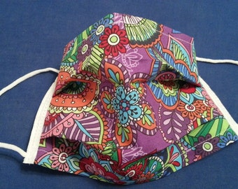 Purple Blossom -Germ Freak Designer Face Mask by Dena Tyson