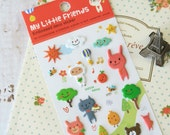 White Bear Artbox My LITTLE FRIENDS embossed deco stickers