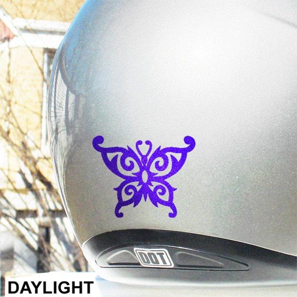 Tribal Butterfly Reflective Decal Butterfly Helmet Sticker - Motorcycle helmet decals for women
