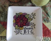 Doodlicious Floral Catch-All Dish Large Square